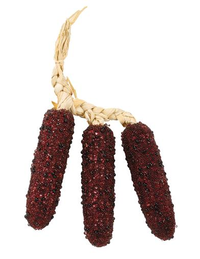 Burgundy Beaded Indian Corn