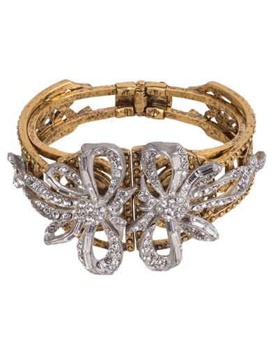 Steampunk Jewelry – Necklace, Earrings, Cuffs, Hair Clips Baroque Cuff Bracelet $149.95 AT vintagedancer.com