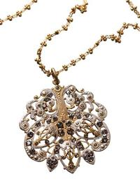 enamel and ct necklace pc antique detail gold floral with victorian yellow htm shop in pearl