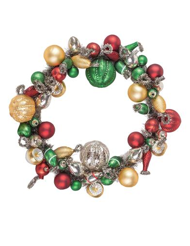 Jewel Lustrous Baubles Wreath