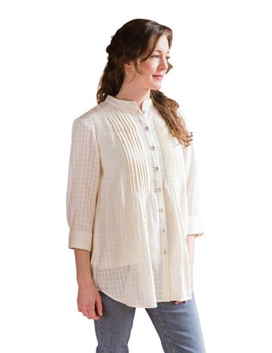 1920s Blouses & Shirts History April Cornell Savannah Blouse $89.95 AT vintagedancer.com