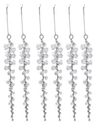 Clear Beads Icicle Ornament Set