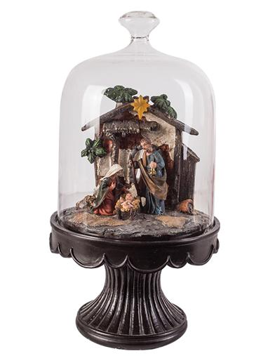 Nativity Bell Jar Music Box