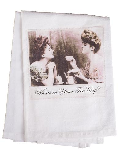 What's In Your Tea Cup Tea Towel