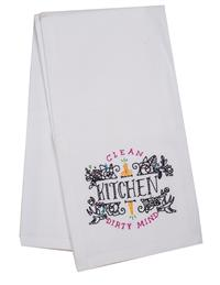 Clean Kitchen Dirty Mind Tea Towel