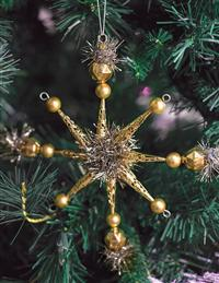 Gold Star Ornament (Set Of 4)