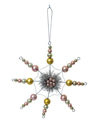 Beaded Star Ornaments (Set Of 4)