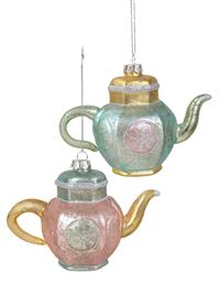 Tea For Two Ornaments (Set Of 2)