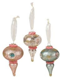 Pastel Finial Ornaments (Set Of 3)