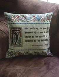 """Have Nothing In Your House"" Jacquard Pillow"