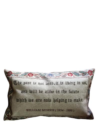"""The Past Is Not Dead"" Jacquard Pillow"