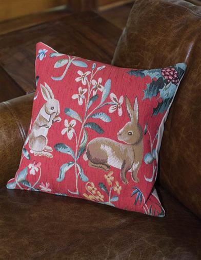 Rabbits Tapestry Pillow