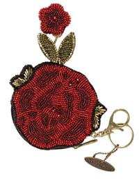 Mary Frances Rose Purse & Key Fob