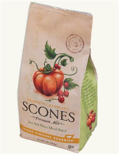 Sticky Fingers Scone Mix (Pumpkin Cranberry)