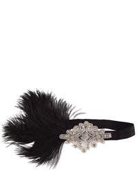 Penelope Sytle Headband With Ostrich Feather