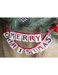 Glittered Greetings Garland