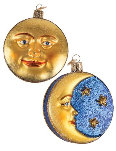 Wax & Wane Moon Ornament