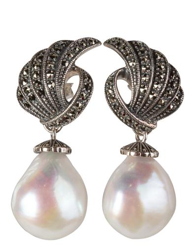 1930s Jewelry | Art Deco Style Jewelry Celestial Freshwater Pearl Earrings $64.99 AT vintagedancer.com