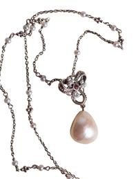 Heart Center Fresh Water Pearl Necklace