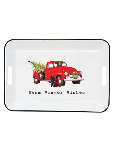 Warm Winter Wishes Whatnot Tray