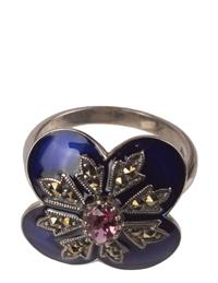 Blue Enamel Criss Cross Ring