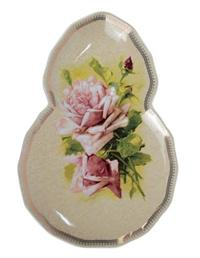 Morning Rose Cake And Ice Cream Plate (Set Of 2)