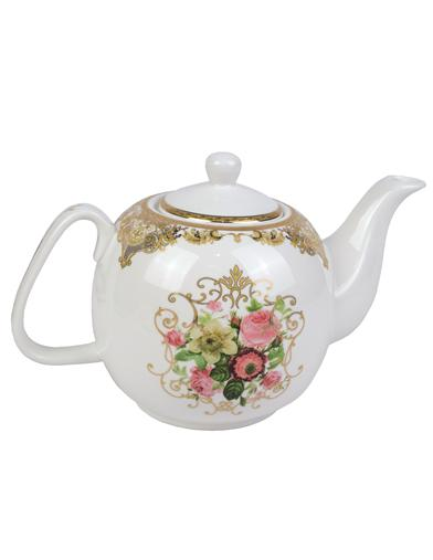 Filigree Rose Teapot