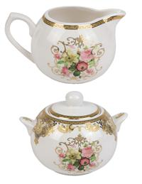 Winter Rose Sugar And Creamer