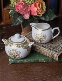 Filigree Rose Sugar And Creamer