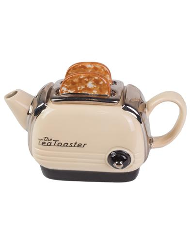 Toaster Cream Teapot