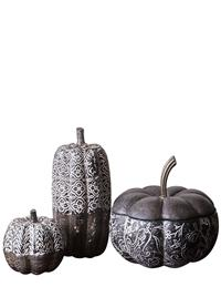French Gothic Gourds (Asst Set Of 3)