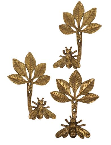 Queen Bee Wall Hooks (Set Of 3)