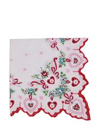 Scalloped Hanky (Lace Hearts)