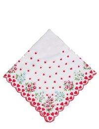 Scalloped Hanky (Red Roses)