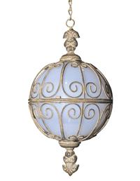 Ornate Solar Hanging Sphere