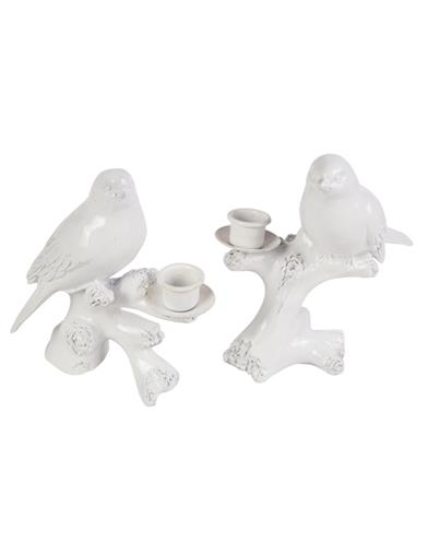 Bird On A Branch Candle Holder (Pair)