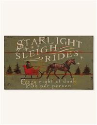 Starlight Sleigh Rides Sign