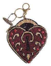Mary Frances Key To My Heart Coin Purse