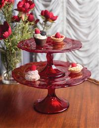 Thistle Glass Pedestal Dishes - Save On Set