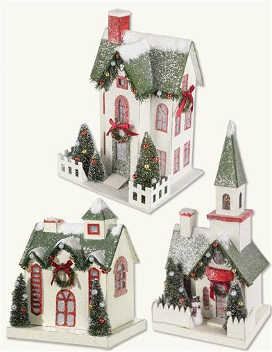 Snowfall On The Village Collection (Set Of 3)