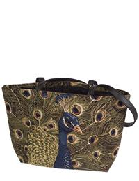 Peacock Tapestry Tote Bag