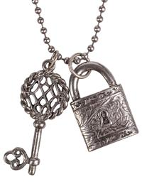Padlock & Key Necklace