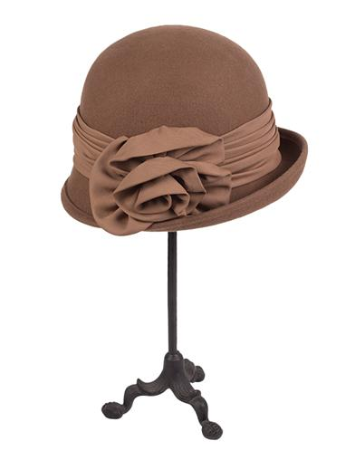 Tea Party Hats – Victorian to 1950s Gothic Woolen Winter Cap Brown $49.95 AT vintagedancer.com