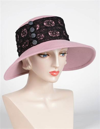 Victorian Style Hats, Bonnets, Caps, Patterns Louise Green Angelina Blush Hat $329.95 AT vintagedancer.com