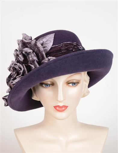 1920s Style Hats Louise Green High Society Brim Hat $399.95 AT vintagedancer.com