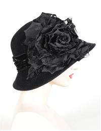 Louise Green Widow's Rose Brim Hat