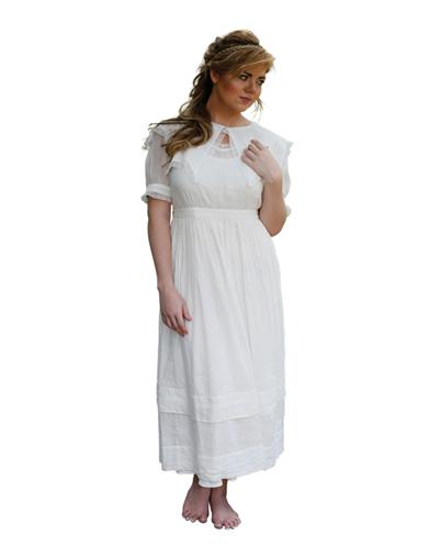 1920s Day Dresses, Tea Dresses, Mature Dresses with Sleeves April Cornell Baccalaureate Dress Extra Extra Larg $99.99 AT vintagedancer.com