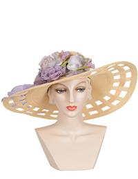 Louise Green Georgiana Straw Brim Hat