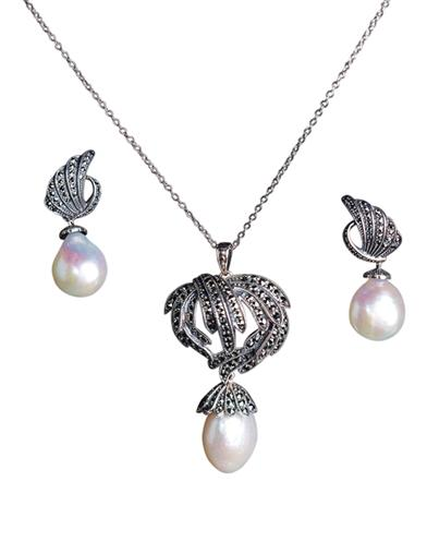 Celestial Pearl Necklace & Earrings (Save On Set)