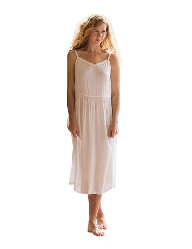 1920s Lingerie History- Slips, Steps Ins, Robes, Night Gowns and Bed Caps April Cornell Adeline Full Slip White Extra Extra $58.00 AT vintagedancer.com